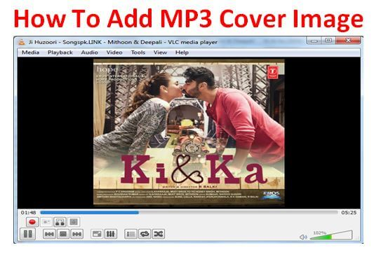 how to add image on mp3 songs