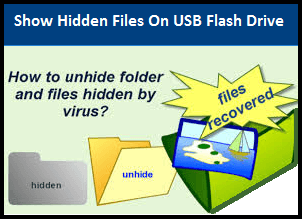How to show hidden files on USB flash drive