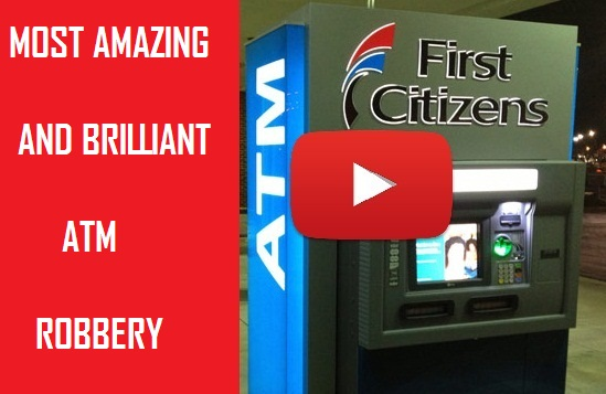 Most Brilliant And Amazing ATM Robbery Video