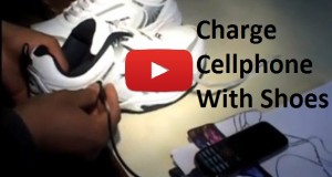 Charge Cell Phone with your Shoes Amazing Video