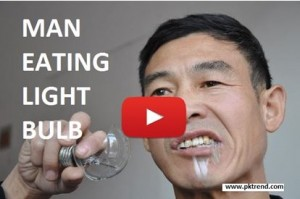Man Who Eat Light Bulb Like Bread Amazing Video