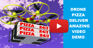 Latest Technology Drone Deliver Pizza New Invention Video