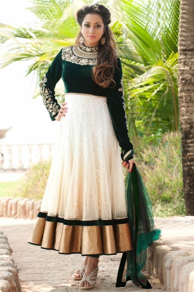 lovely shades of anarkali frocks