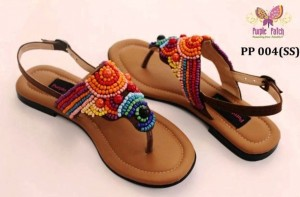 Trendy Purple Patch latest Voguish Sandals For Girls