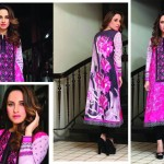 Hadiqa Kiani collection, unstitched floral prints