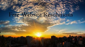 Free Website Resolutions for the New Year